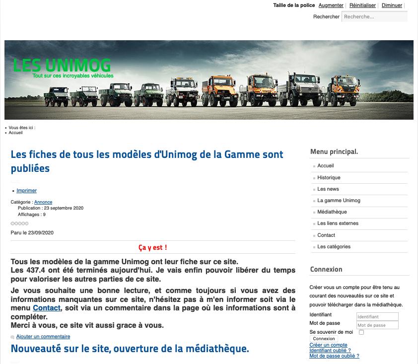 Page d'accueil LesUnimog.fr